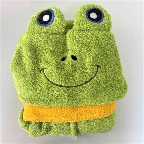 Микропамучен детски халат за баня - Frog