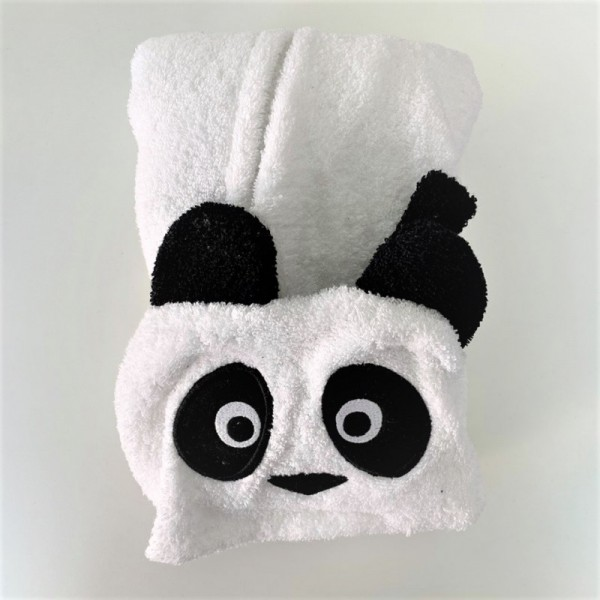 Микропамучен детски халат за баня - Panda