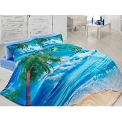 3D Спален комплект от памучен сатен Хоризонт