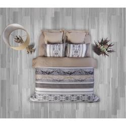 Стилен спален комплект - 100% Памук Ранфорс - Beige Style