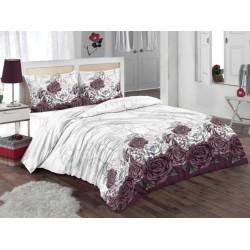 Прекрасен спален комплект със завивка - 100% Памук Ранфорс -  Diamond