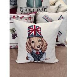 Бутикова декоративна възглавница - 100% Еко Силиконов Пух - British Girl