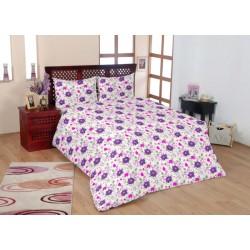 Красиво спално бельо - 100% Памук - Purple Flowers