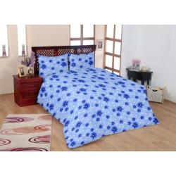Красиво спално бельо - 100% Памук - Blue Flowers