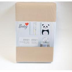 Практичен чаршаф с ластик за бебе 60/120 - 100% Памук - Latte