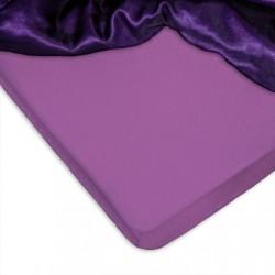 Долен чаршаф с ластик Памук - Lilac