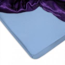 Памучен чаршаф с ластик Blue