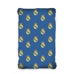 Еластичен чаршаф с ластик 90/200/25 -  Ранфорс Памук - Real Madrid