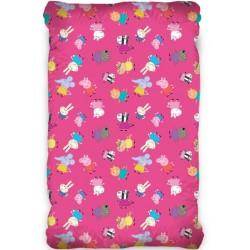 Комфортен чаршаф с ластик за дете - 100% Ранфорс Памук - Peppa Pig