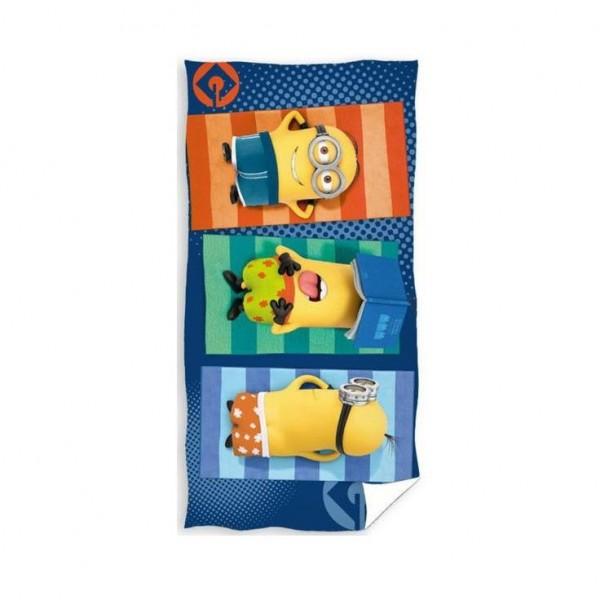 Хавлиена кърпа за плаж - 100% Памук - Minions