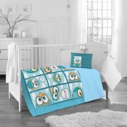 Бебешко спално бельо от Ранфорс Памук - Cute Owls