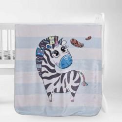 Пухкаво одеяло за бебе Little Zebra