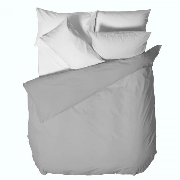 Стилен Плик за Олекотена Завивка 150/220 - 100% Ранфорс Памук - Grey