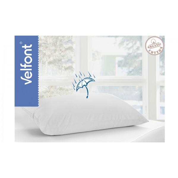Непромокаема калъфка за възглавница - 100% Органичен Памук - White