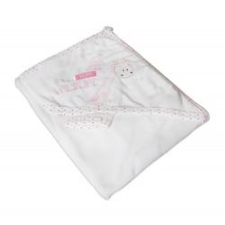 Луксозна хавлия за бебе - 100% Памук - Wildlife Pink