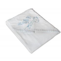 Луксозна хавлия за бебе - 100% Памук - Wildlife Blue