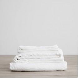 10 бр. долни чаршафи - 100% Памук - White