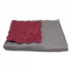 Универсално шалте с две лица Bordeaux&Gray