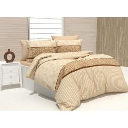 Комплект памучно спално бельо Hallmart Beige