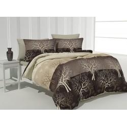 Комплект памучно спално бельо Woods Brown