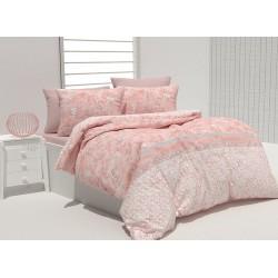 Комплект памучно спално бельо Daisetta Peach