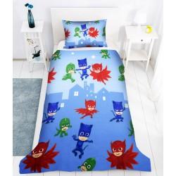 Пухкаво спално бельо за дете - 100% Памук - PJ Masks Blue