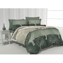 Грациозно спално бельо - 100% Памук - Green Forest