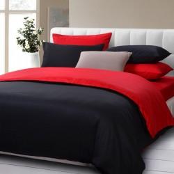 Двулицев спален комплект - 100% Памук Ранфорс - Black&Red