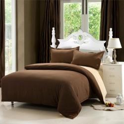 Двулицев спален комплект - 100% Памук Ранфорс - Beige&Brown