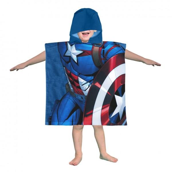 Бутиково пончо за дете - 100% Памук - Captain America