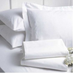 Универсален бял чаршаф - 100% Памук Ранфорс - Gabrielle