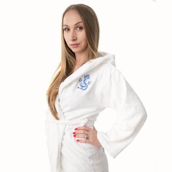 Тийнейджърски Халат за Баня - 100% Памук - White