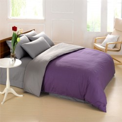 Спален комплект с олекотена завивка - 100% Микрофибър - Purple&Gray