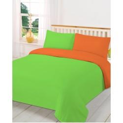 Двулицев спален комплект - 100% Полиестер - Green&Orange