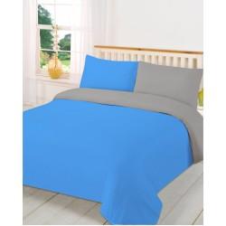 Двулицев спален комплект - 100% Полиестер - Aqua&Grey