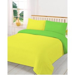 Спален комплект с олекотена завивка - 100% Микрофибър - Yellow&Green