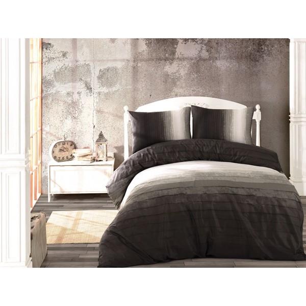 Уютен спален комплект - 100% Ранфорс Памук - Silver Stripe