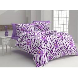 Комплект памучно спално бельо Bulverde Purple