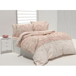 Комплект памучно спално бельо Daisetta Beige