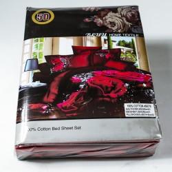 3D Спален комплект - 100% Памучен Сатен - Red&Roses