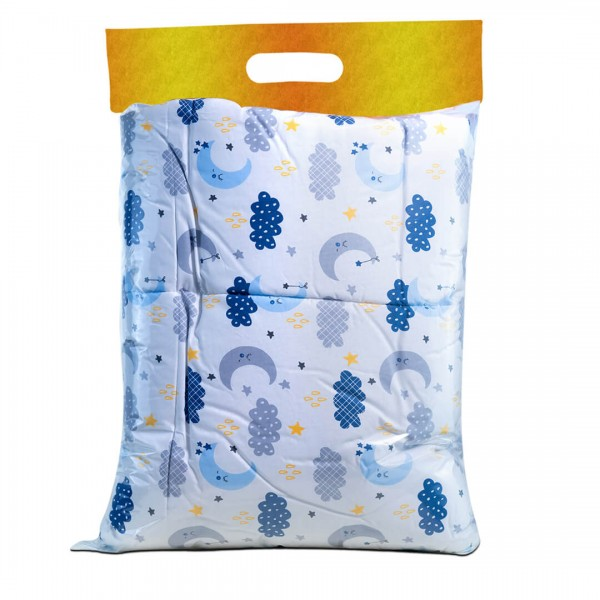 Удобен памучен бебешки спален комплект със завивка - 100% Ранфорс Памук - Clouds Аnd Мoons