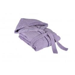 Луксозен халат за баня - 100% Памук - Claudia Lilac