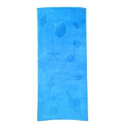 Елегантна плажна кърпа - 100% Памук - Ariel Blue
