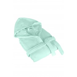Пухкав хавлиен халат с качулка - 100% Памук - Mint