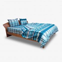 Класически спален комплект - 100% Памук - Square Аqua
