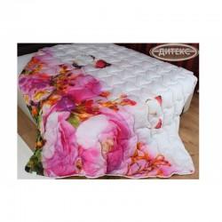Олекотена Завивка от памучен сатен Pink Flowers