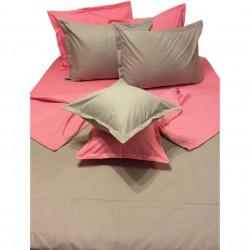 Първокласно спално бельо  с две лица - 100% Памук Ранфорс - Pink&Gray