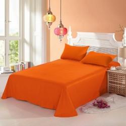 Промо комплект чаршаф с 2 броя калъфки за възглавница - 100% Памук - Orange