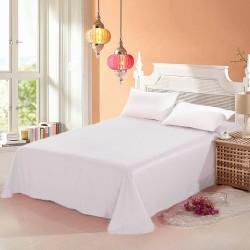 Промо комплект чаршаф с 2 броя калъфки за възглавница - 100% Памук - White