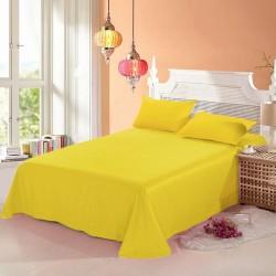 Промо комплект чаршаф с 2 броя калъфки за възглавница - 100% Памук - Yellow